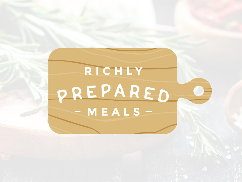 Richly Prepared Meals Logo Design