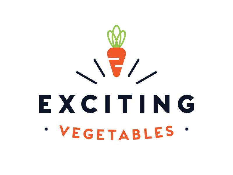 Exciting Vegetables Logo Design
