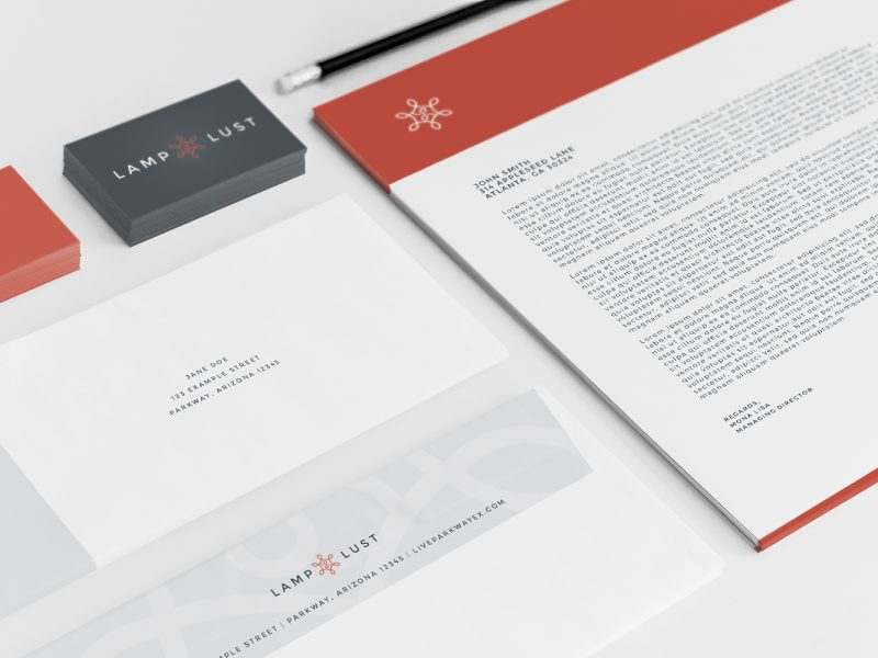 Lamp Lust - Atlanta Logo Design and Branding | Atlanta Stationery Design | Atlanta Business Card Design