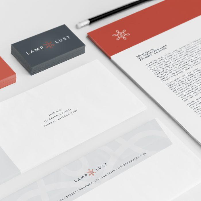 Lamp Lust - Atlanta Logo Design and Branding | Atlanta Stationery Design | Atlanta Business Card Design